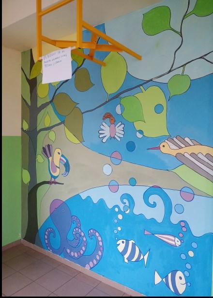 Szkolny mural